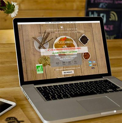 Dezz.fr : Réalisation de site web et blog : Service de livraison express d'épices, d'herbes et d'aromates à domicile.