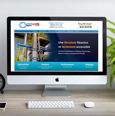 Dezz.fr : Réalisation de site web et blog : Site Gaz Combustion : Entretien, Maintenance, Réglage, Dépannage appareils de chauffe