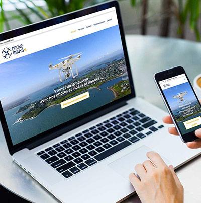 Dezz.fr : Réalisation de site web et blog : Société spécialiste des drones dans le golf du Morbihan