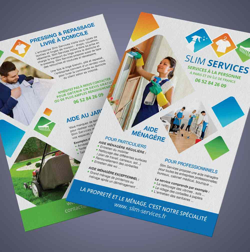 Flyer A5 recto verso SLIM SERVICES