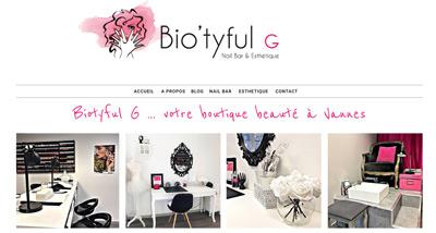 Dezz.fr : Réalisation de site web et blog : Nail bar et Esthétique, Boutique à Vannes