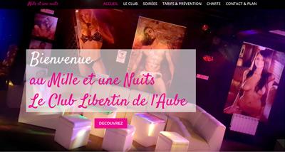 Dezz.fr : Réalisation de site web et blog : Club Discothèque Libertin dans l'Aube