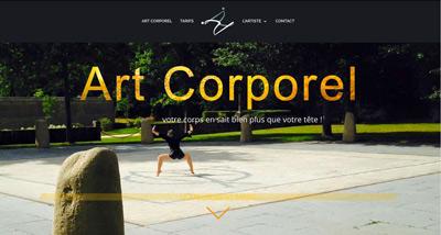 Dezz.fr : Réalisation de site web et blog : Art Corporel - Danseuse et Chorégraphe : Virginie VICCARO