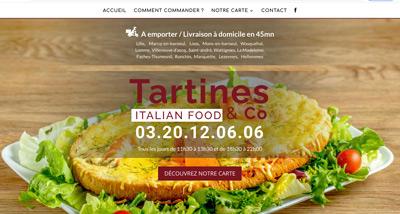 Dezz.fr : Réalisation de site web et blog : Tartines and co